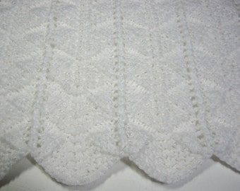 Hand Knitted, Baby Boy, Baby Girl, Baby Blanket, Baby Shower Gift, Baby Afghan, Newborn, Christening