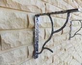 Unique Steel Shelf Brackets + FREE Wood Shelf - Shelf Corbels - Steel Corbels - Metal Brackets - Unique Shelf Brackets