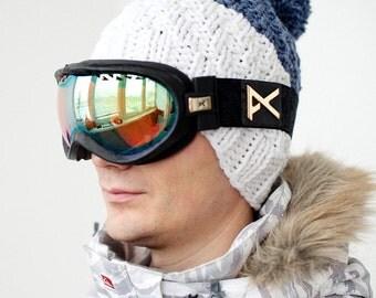 Men's Knit Hat / Knitted Beanie / Wool Hat / Hand Knit Ski Hat