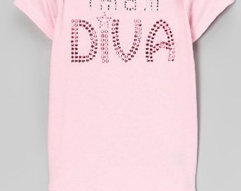 Pink i'm a lil DIVA Bodysuit
