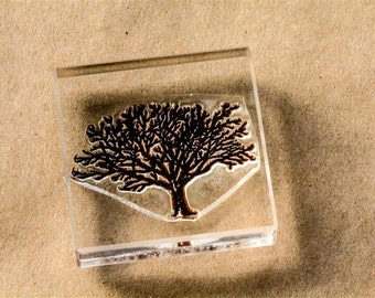 Vintage Tree Stamp - 2 x 2 Inches - Tree Rubber Stamp - Tree Stamps - Dead Tree Rubber Stamp