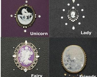 Step 2: Crystal Fairy Unicorn Cameo Lady Swarovski Crystal Element Embellishment for iPad, Nook, Kindle Fire or Samsung Case