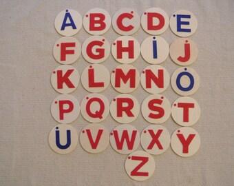 Montessori Felt Letters Uppercase Wood Boards