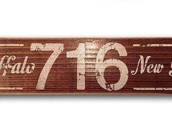 716 Buffalo, NY wooden sign