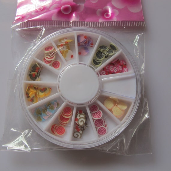 3d 1 wheel 12 cake designs of polymer clay slices for 3d printer cake decoration