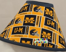 NCAA University of Michigan Fabric Lamp Shade  (10 Sizes to Choose From!)