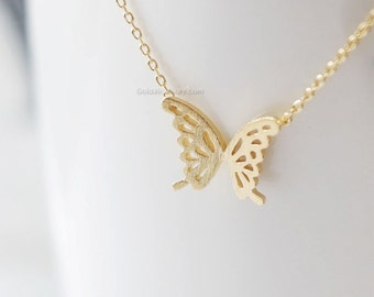Gold ButterFly Necklace, dainty butterfly necklace, necklaces for women, wedding gifts, bridesmaid gifts