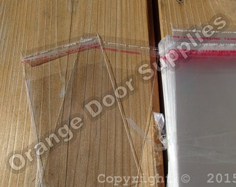 Self Sealing Lip and Tape Cello Bags - 100 pcs 2.25 x 3.5 inches or 4.75 x 7 inches