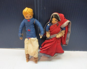 Vintage Cloth Dolls From India