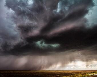 Cloud Photography, Storm Print, Weather Photo, Photography Art, Blue Clouds, Kansas Art, Storm Picture, Photography Landscape, Color Print