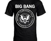 Big Bang vs. The Ramones VIP Seal Logo K-pop T-shirt