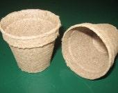 "75 - 2"" Round Jiffy Peat Pots - Seed Starting Supplies, Growing Supplies, Greenhouse Supplies, Small Peat Pots, Round Peat Pots, Organic"