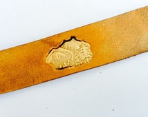 Leather Bookmark - Pine and Mountains
