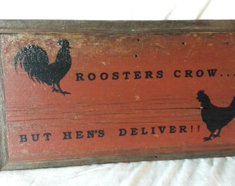 Barnwood Rooster/Chicken Sign