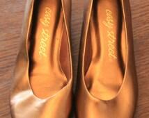 Vintage Womens Shoe/Vintage Pumps/Womens Pumps/Casual Shoe/Pant Shoe/Vintage Casual Shoe/Vintage Pant Shoe/Casual Pump/Copper Heels/SH027
