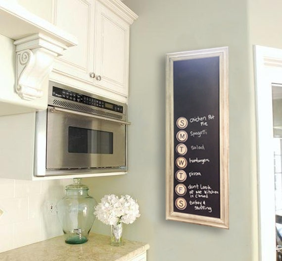 "Magnetic Kitchen Menu Chalkboard, 16"" x 38"", Comes with ArtMagnets!"
