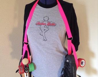Junior Size Hot Pink Skate Sling - Roller Derby - Roller Skate Accessory - Skate Noose  - Skate Holder - Skate Leash - Roller Girl
