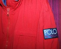 Vintage Ralph Lauren Polo Hi Tech Jacket Bomber Stadium P Wing Ski Spell Out