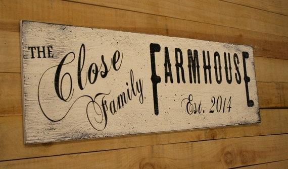 Personalized Farmhouse Decor Primitive Wood Sign Housewarming