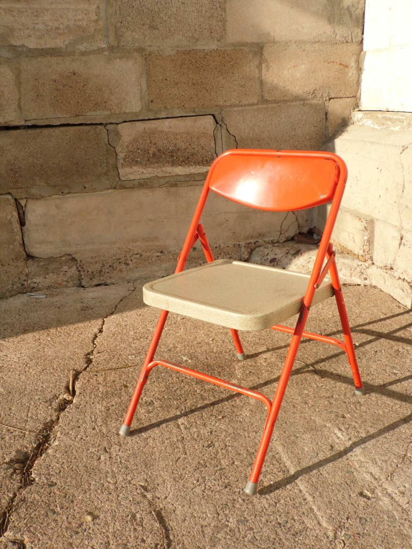 Child s Folding Chair Samsonite Folding by OldSteamerTrunkJunk