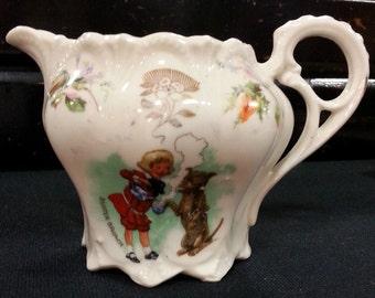 Antique Vintage Buster Brown Tige Child's Creamer