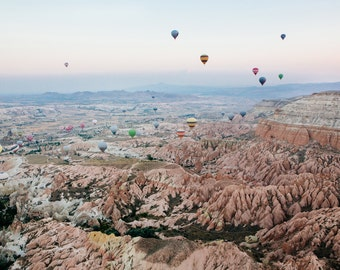 Hot Air Balloon Photography During Sunrise in Cappadocia, Turkey