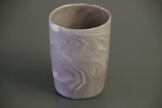 Unique Coffee Mug Mug Without Handles Marbled Ceramic Mug