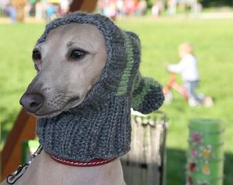 Greyhound Hat / Italian Greyhound Hat / Greyhound Snood / Dog Hat /Hand Knit Dog Hat