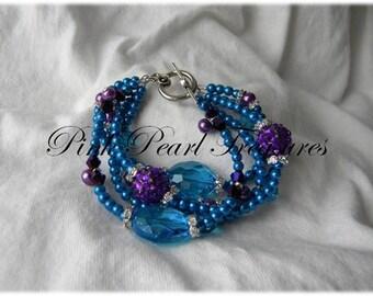 Carnival multi strand bracelet