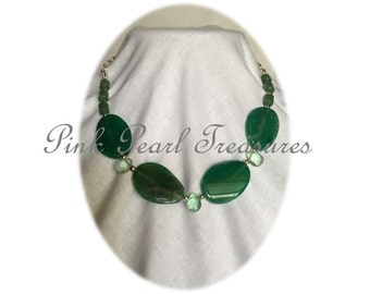 Ring of Jade beaded necklace