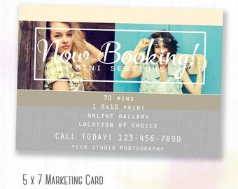 Back to school Mini Session Template, Photography Marketing Board, Now Booking Templates For Photographers, Senior Template Marketing, c127