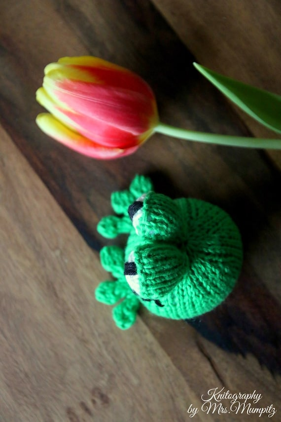 Knitting Gifts For Adults : Frog knitting pattern for beginners and advanced knitters