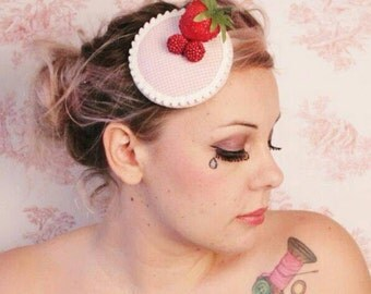 Headdress * Berry Pink Plaid *.