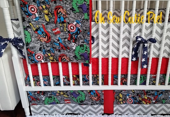 Superhero Baby Bedding Superhero Nursery With By OhSewCutiePie