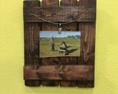 Rustic reclaimed wood picture frame