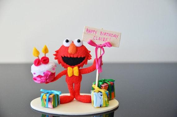 Elmo Cake Decorations : ELMO CAKE TOPPER Elmo birthday cake topper 1st by MmeHibou