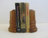 Bookends, Wooden Bookends, Vintage Bookends, Wood Bookends, Vintage Office, Bookshelves, Wooden Bookshelves Books Vintage Books Book Troughs