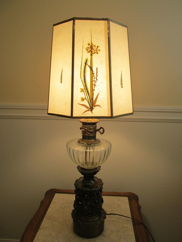 edwardian lamps pressed flowers lamp shade dried flower lamp. Black Bedroom Furniture Sets. Home Design Ideas