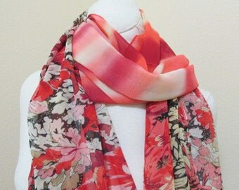 SALE - Silk Painted Scarf