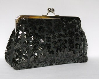 Black Sequin Clutch, Evening Clutch, Black Clutch, Sequin Clutch, Clutch Purse, Glamorous Clutch Purse, Clutch bag, Wedding Clutch