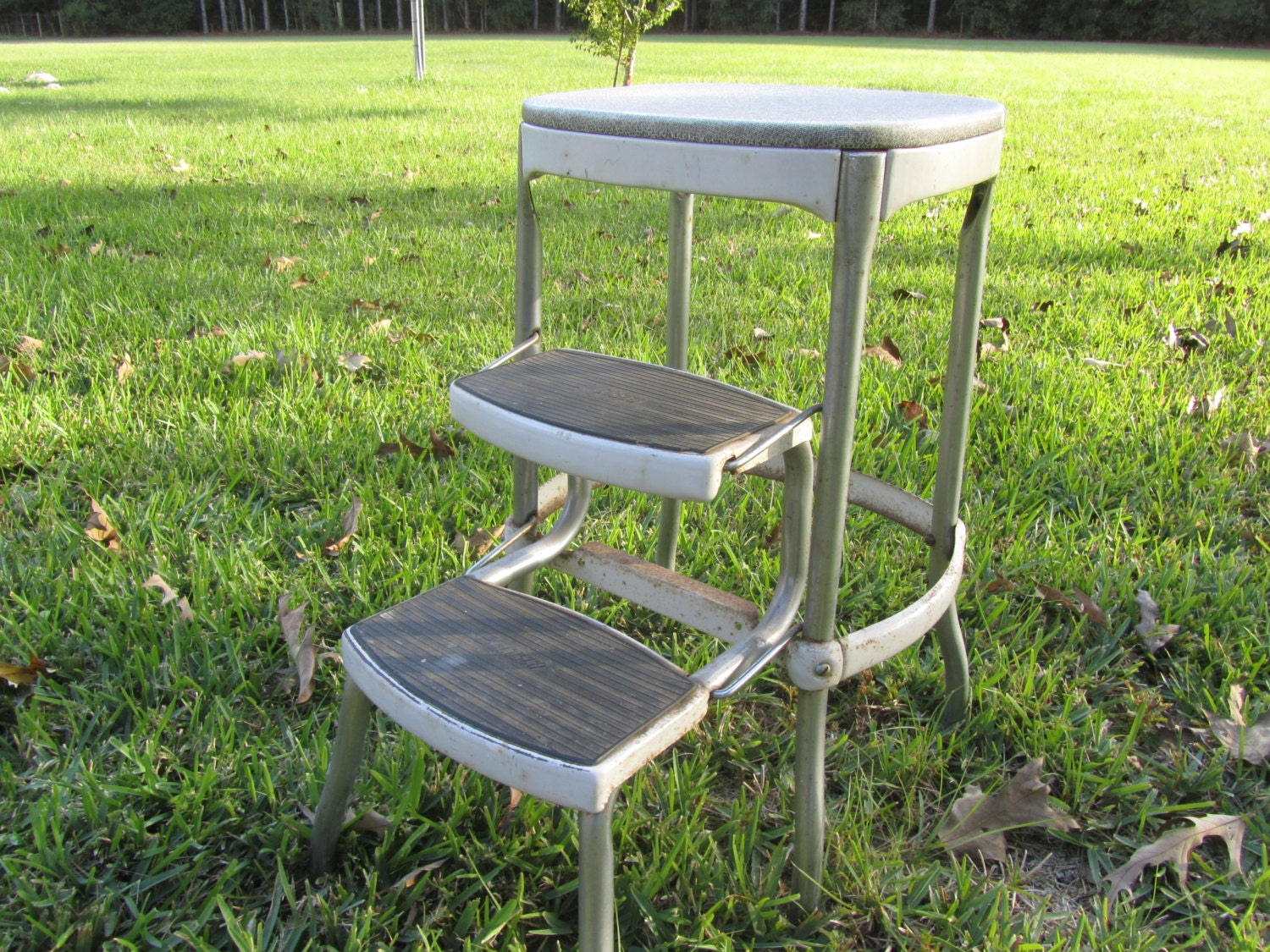 Vintage Cosco Metal Step Stool Step Chair Stool Step Ladder
