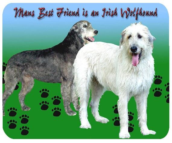 Irish Wolfhound Dog, Man's Best Friend, Mouse Mat, Mouse Pad