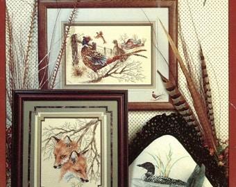 Cross Stitch Pattern Book- 10 Nature Lover's Designs - Owl Bunny Loon Butterflies Pheasant ++ Original Hard Copy Book Not a Pdf Kenyon Books