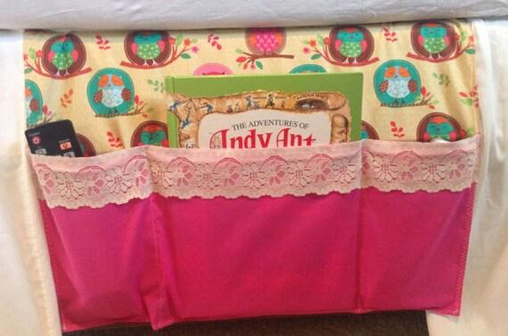 Girls Bedside Bed Caddy Bed Organizer Dorm Organizer Owls