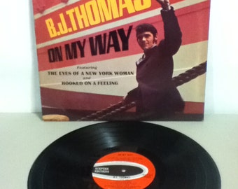 BJ Thomas On My Way Vintage Vinyl Record Album LP 1968 Scepter Records Stereo SPS 570