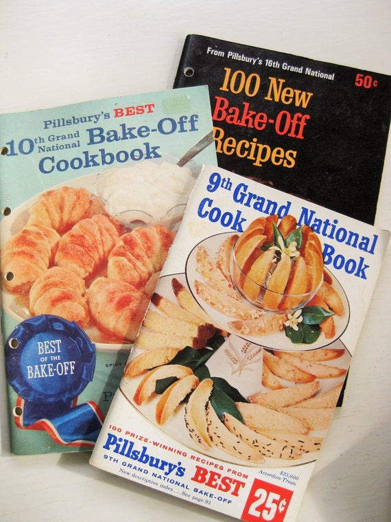 Three Pillsbury Bake-off Booklets : 9th, 10th and 16th