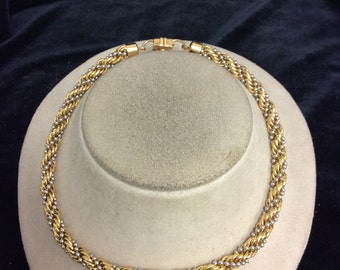 Vintage Two Tone Twisted Designed Necklace
