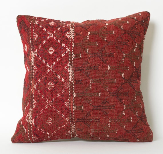 Old Kilim Pillow Hand Embroidery