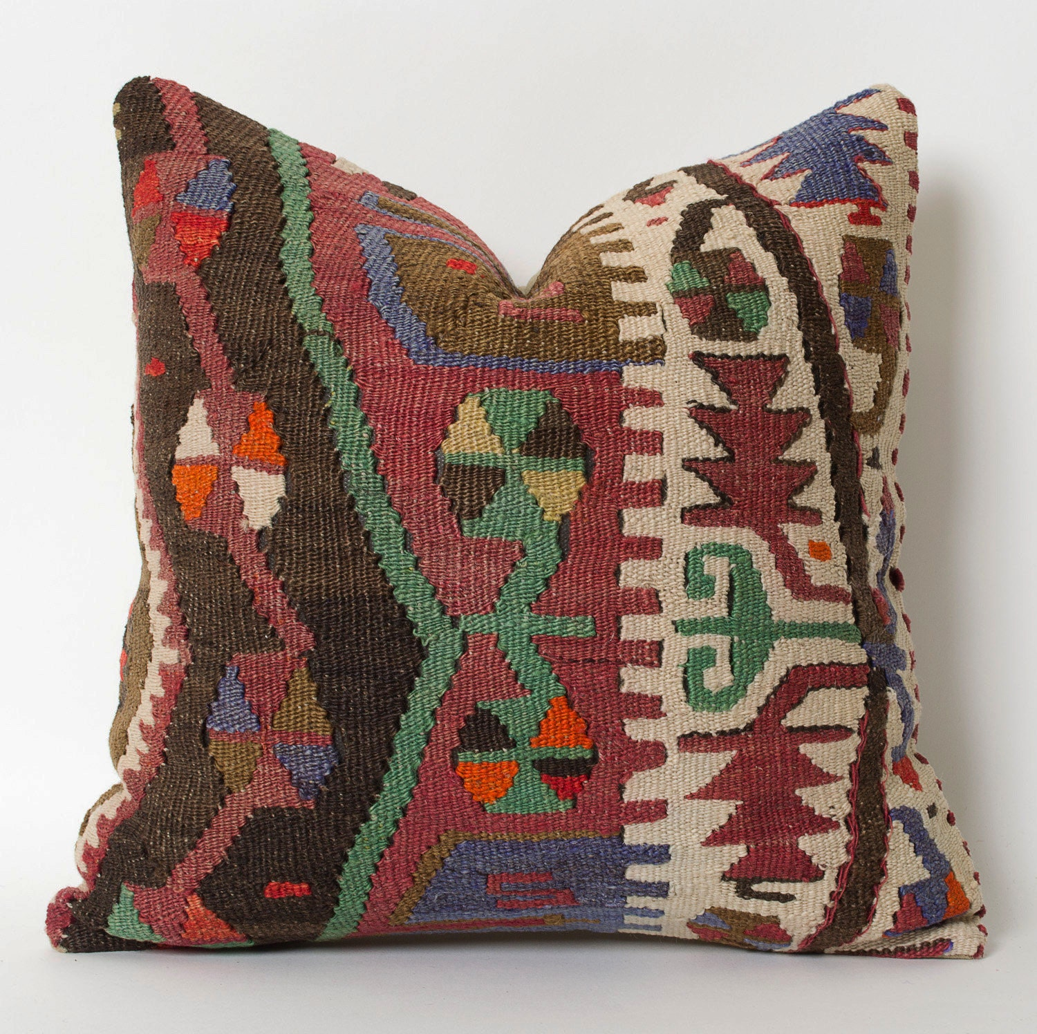 Decorative Pillows Kilim : Kilim Pillowcase Kilim Throw Pillow Turkish Pillow