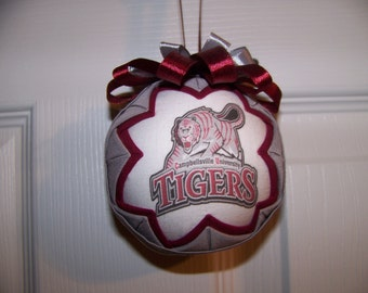 Campbellsville University Tigers Quilted Ornament